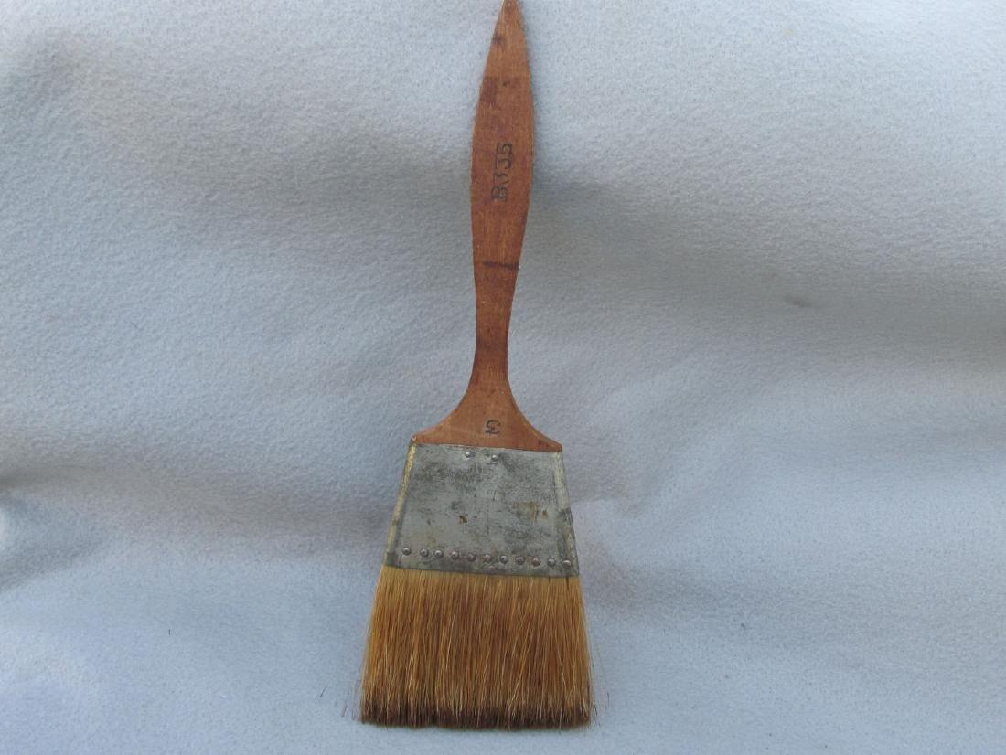 Antique Primitive Amish Paint Brush Natural Bristles