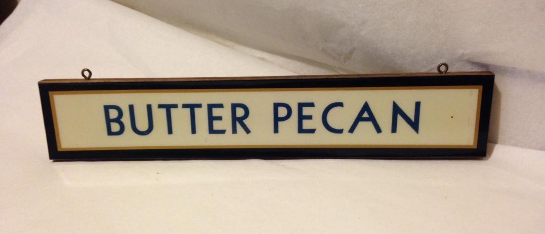 1950's Ice Cream Sign - Butter Pecan