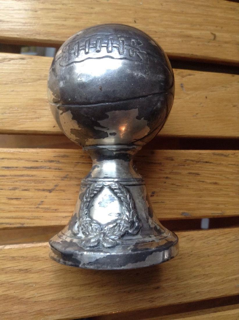 Figural Basketball Trophy 1920 Silver Plate