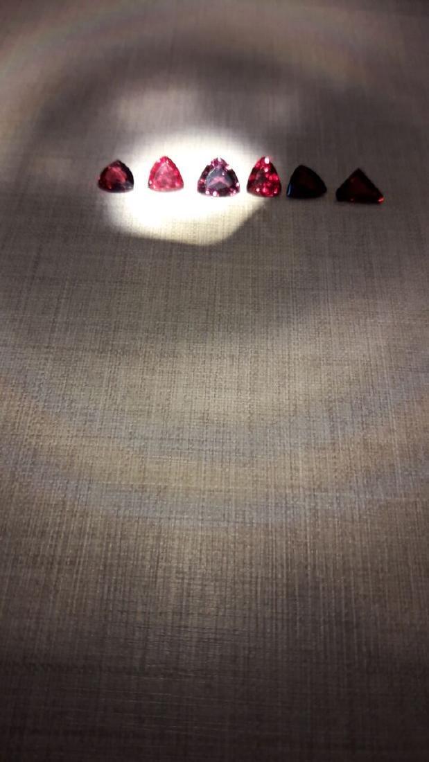 6 Pyrope Almandite & Rhodolite Garnets 8.00ctw