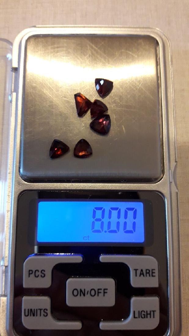 6 Pyrope Almandite & Rhodolite Garnets 8.00ctw - 2