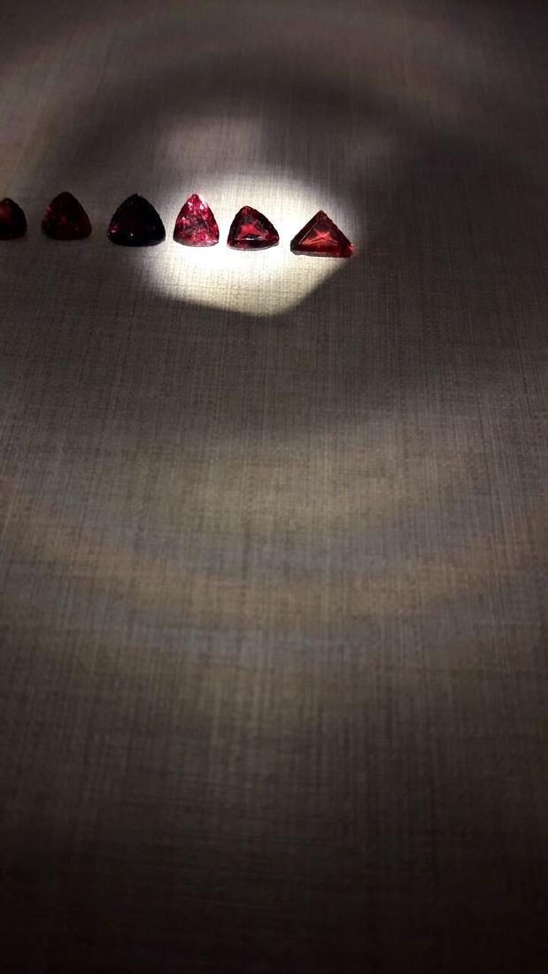 6 Pyrope Almandite & Rhodolite Garnets 8.00ctw - 4