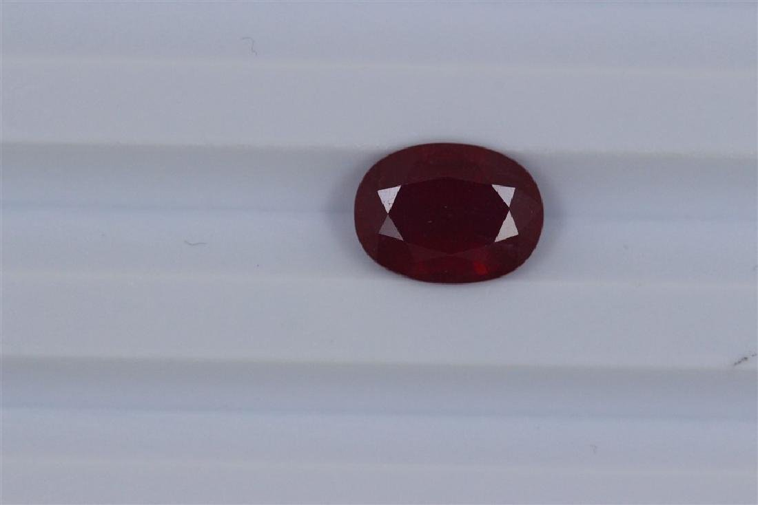 3.55ct Loose Ruby Oval cut