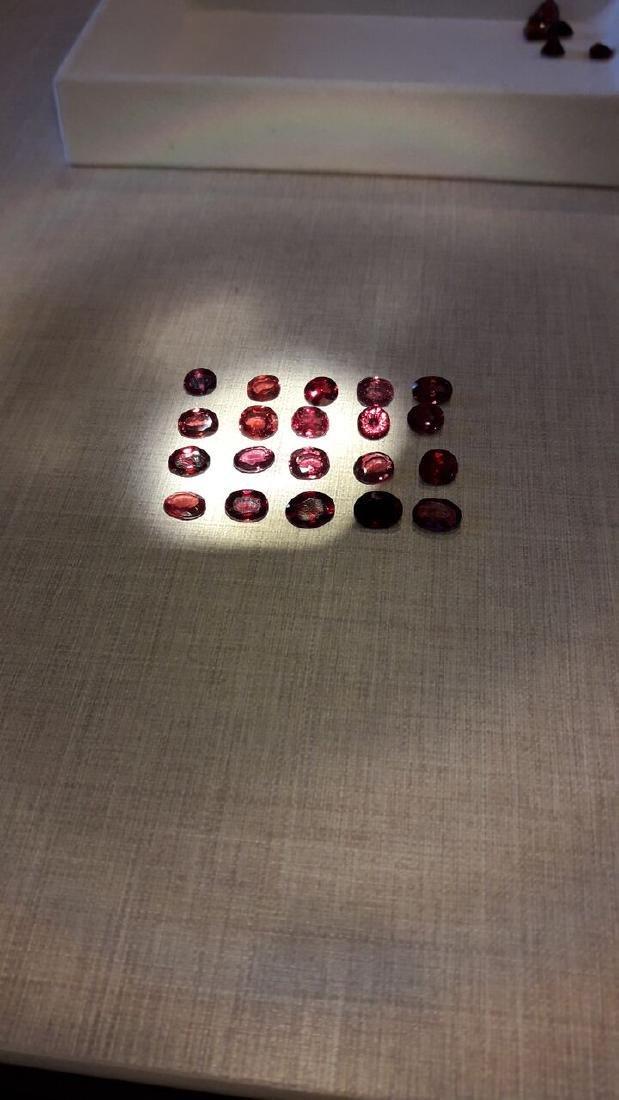 20 Pyrope Almandite & Rhodolite Garnets 24.00ctw