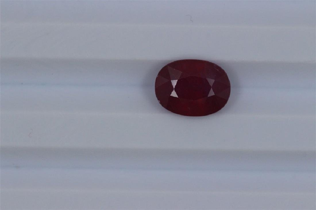 4.04ct Loose Ruby Oval cut