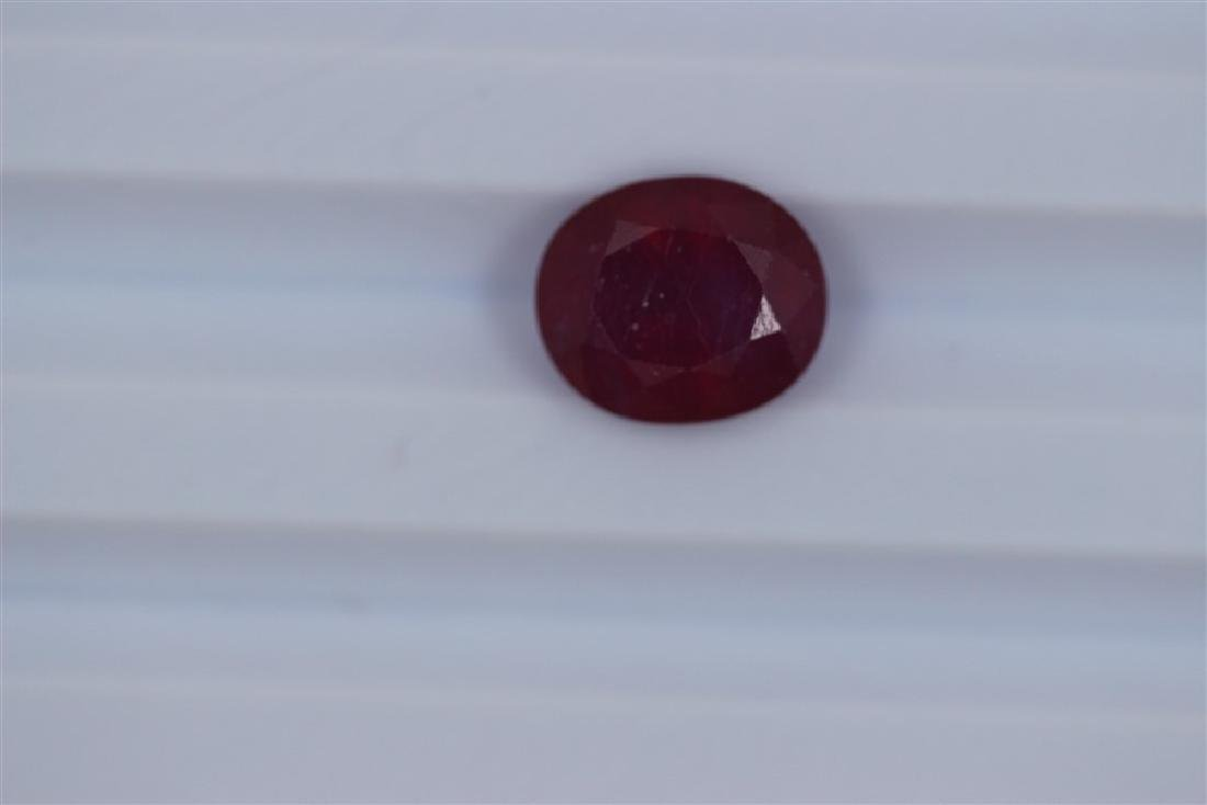 4.87ct Loose Ruby Oval cut