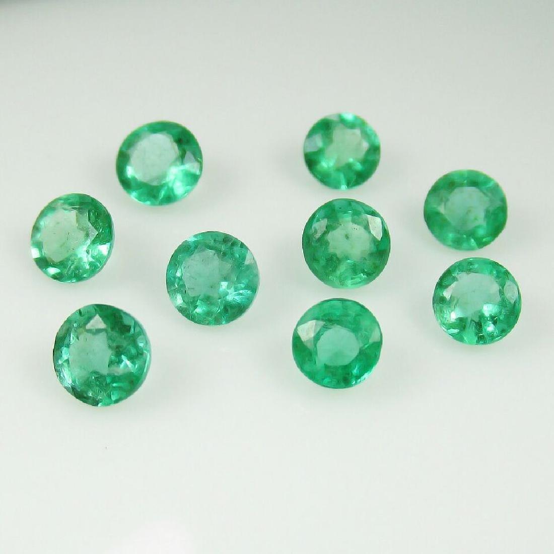 2.98 Carat 9 Loose Round Emeralds Necklace Set - 2