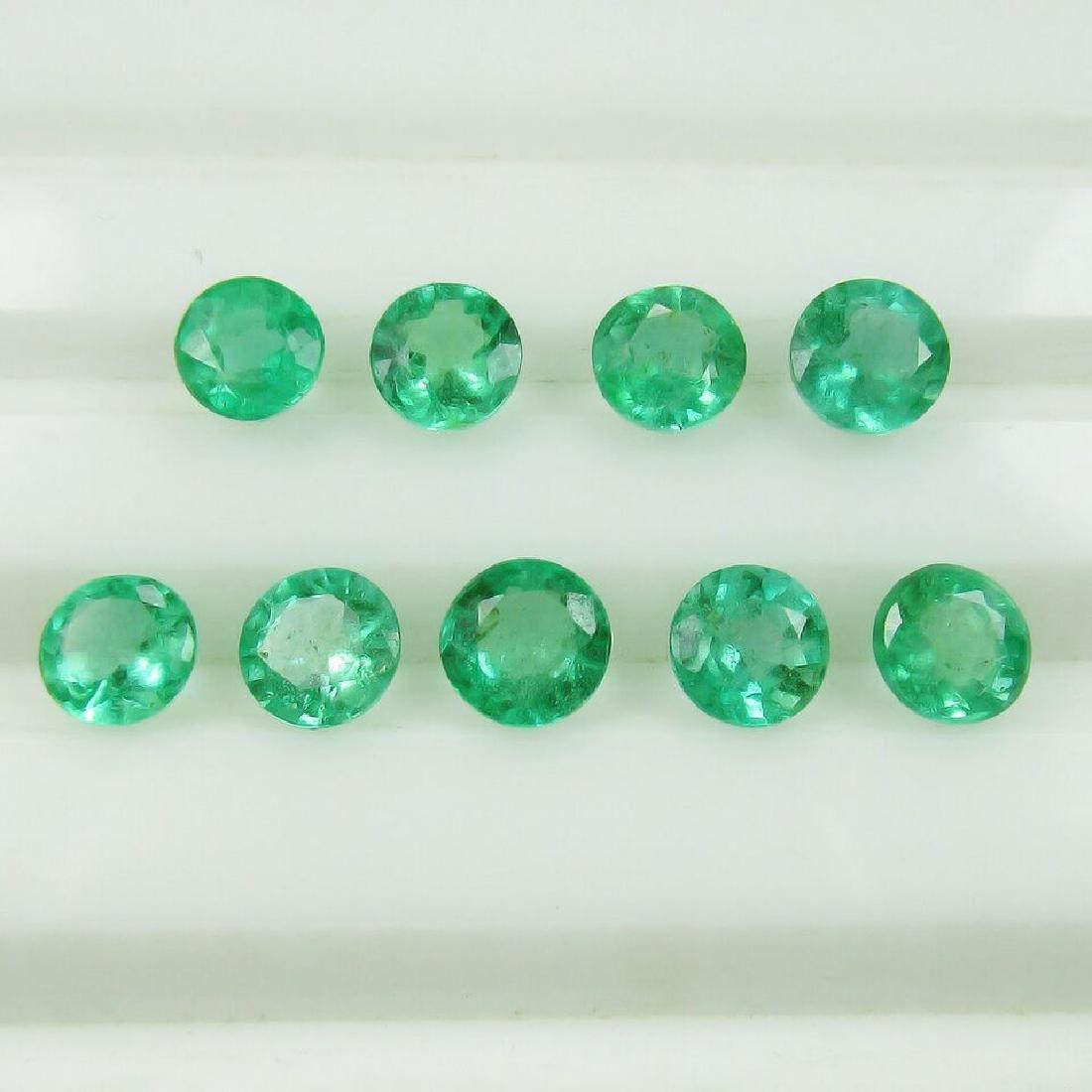 2.98 Carat 9 Loose Round Emeralds Necklace Set - 3