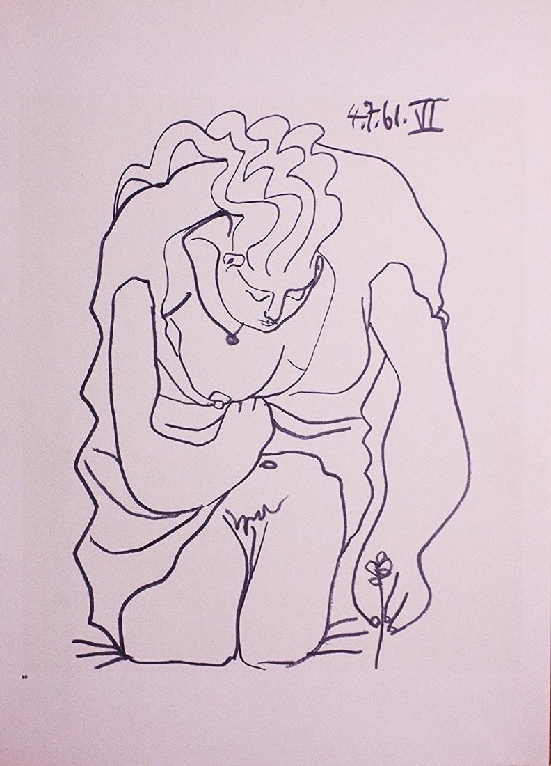 Pablo Picasso Lithograph Les Déjeuners, Plate 80