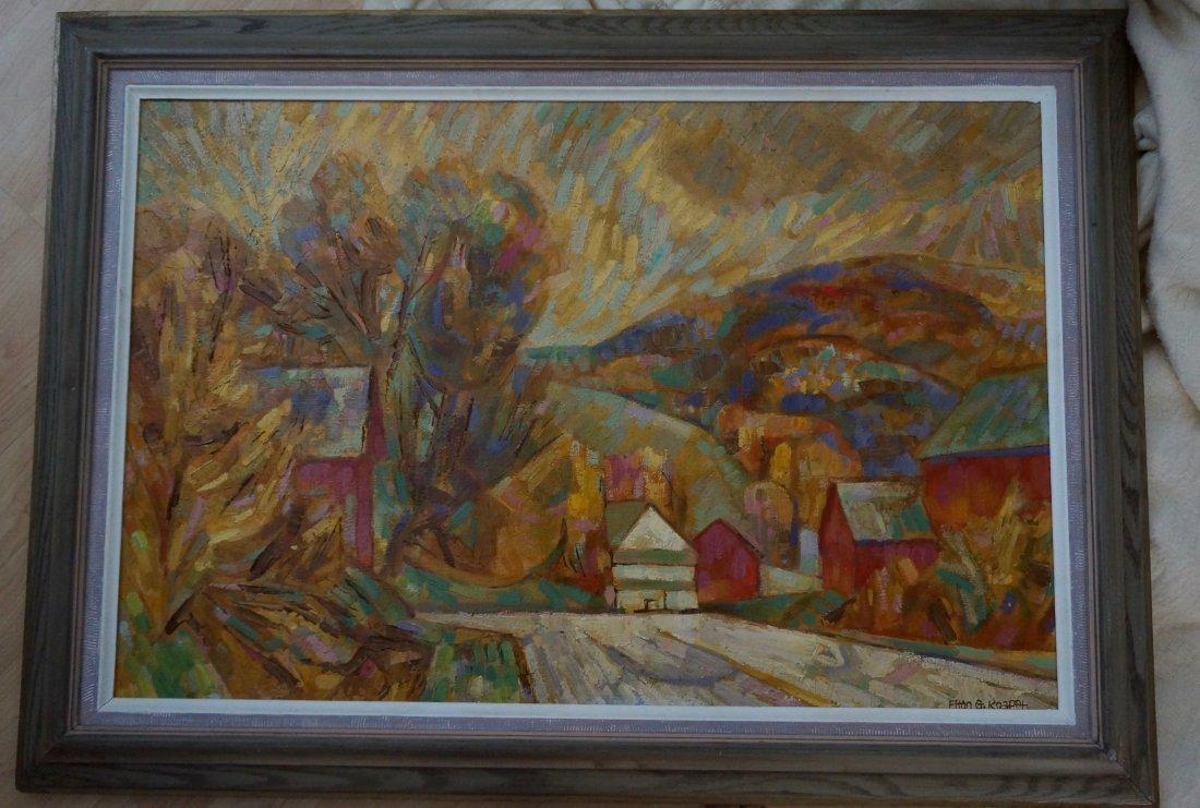 Elton G. Krafft Oil on Canvas Painting
