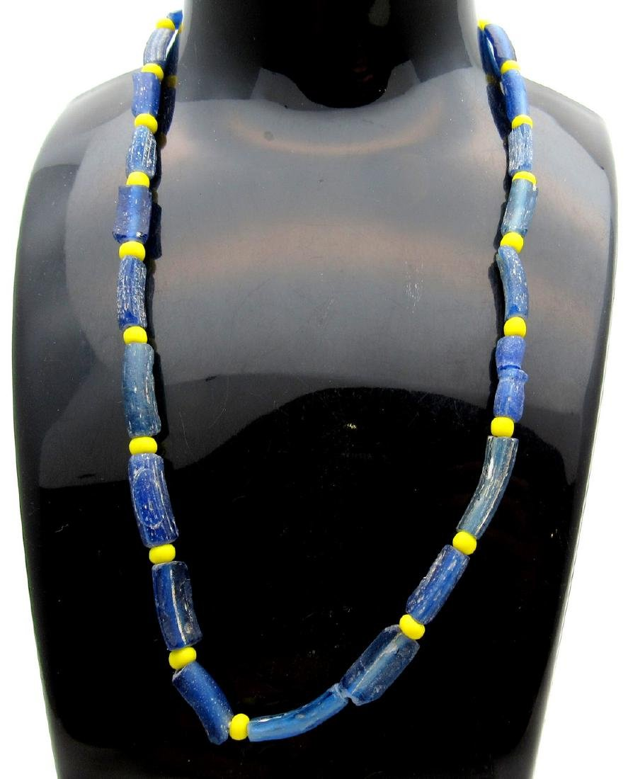 Medieval Viking Era Necklace with 23 Glass Beads