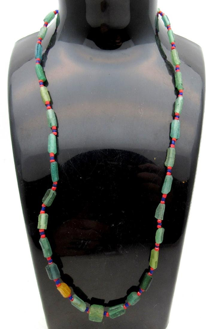 Medieval Viking Era Necklace with 33 Glass Beads