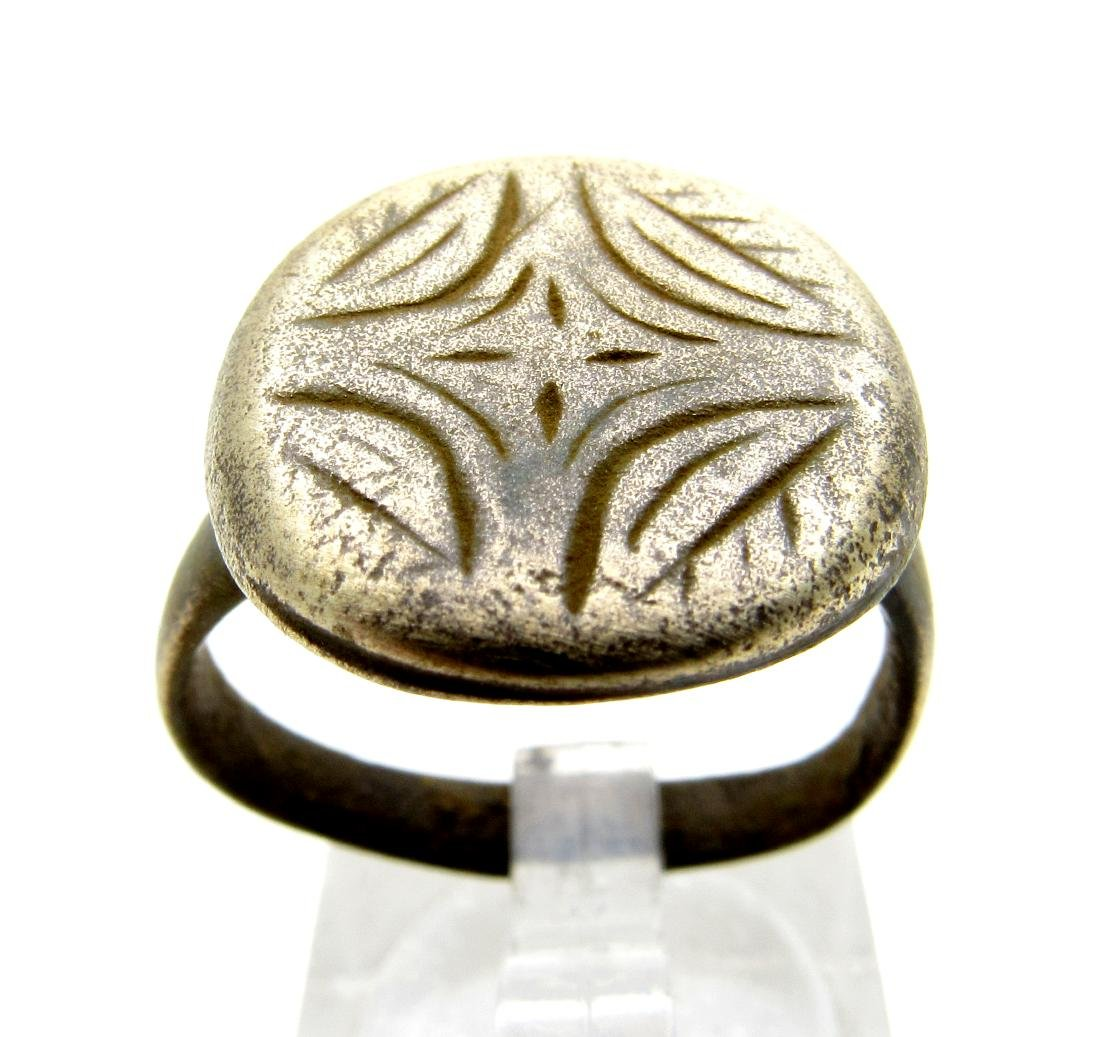 Medieval Crusaders Period Bronze Ring Star of Bethlehem