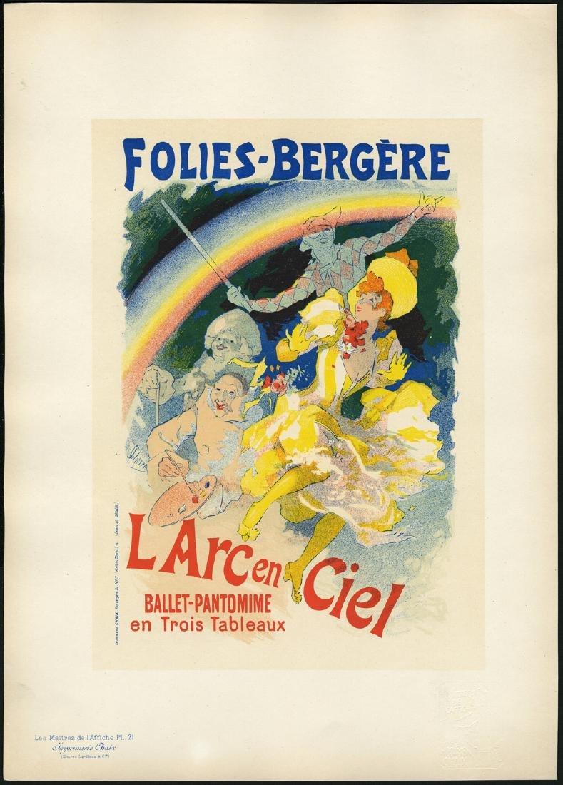 Original Ju Cheret Lithograph Maitres de L'Affiche 21