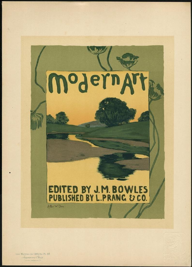 Original Arthur Dow Lithograph Maitres de L'Affiche 36