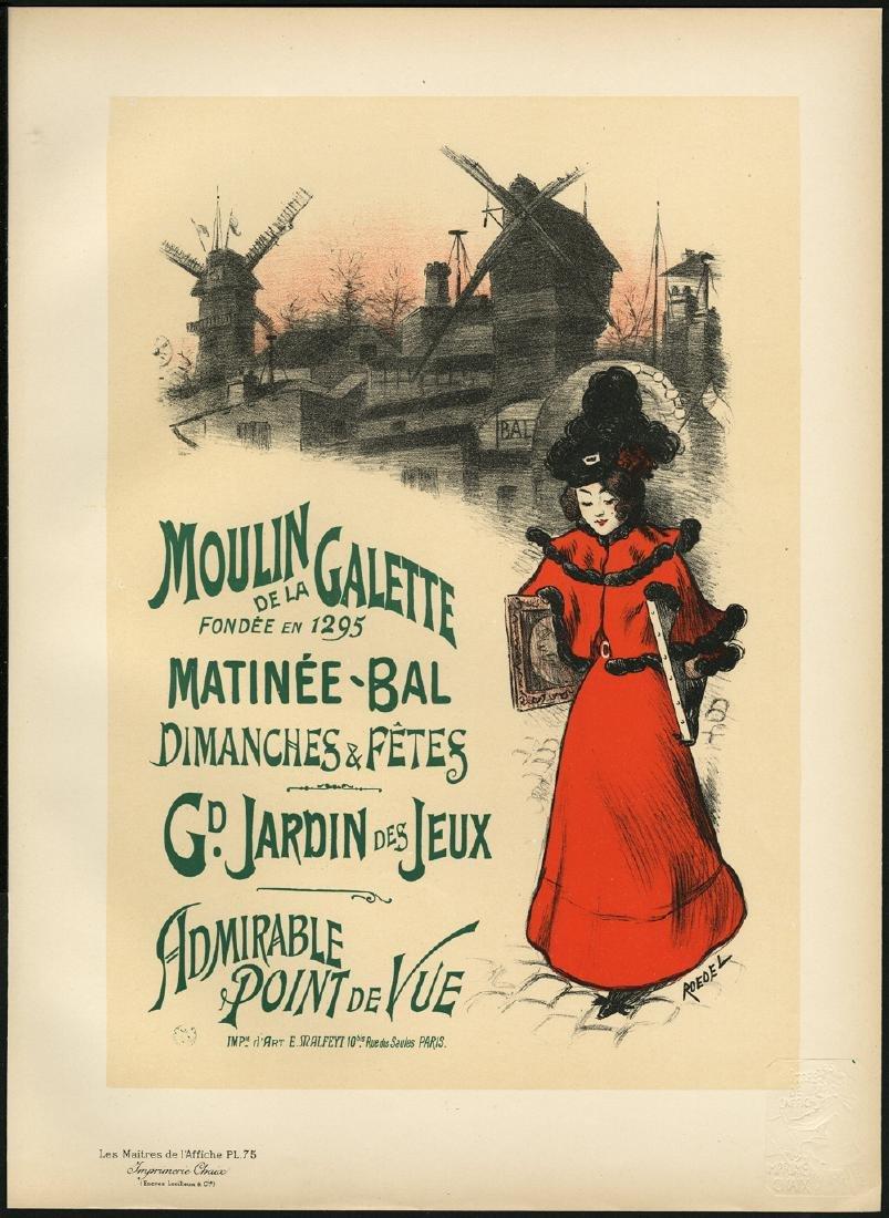 Original Roedel Lithograph Maitres de L'Affiche 75