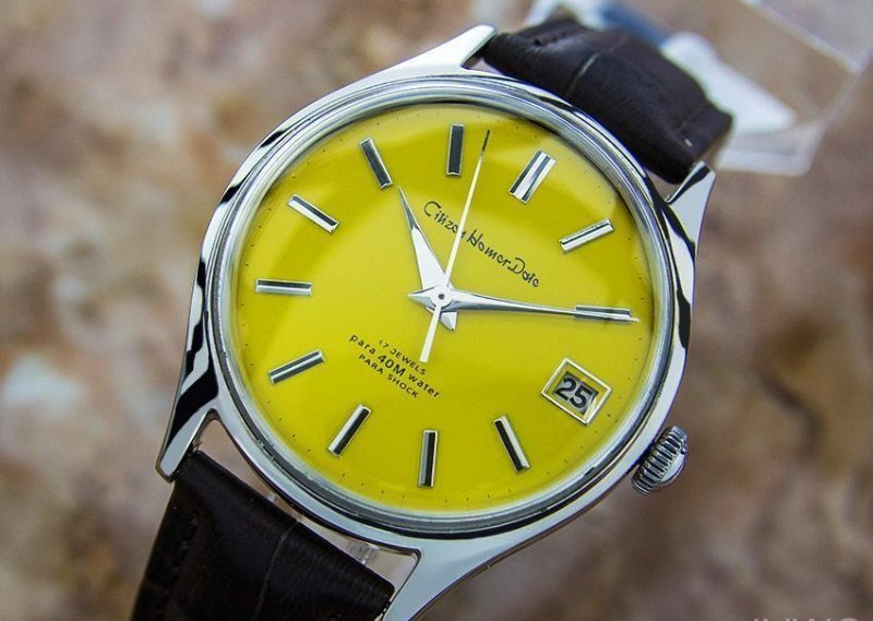 Citizen Homer Date Japanese Collectible Men's Vintage