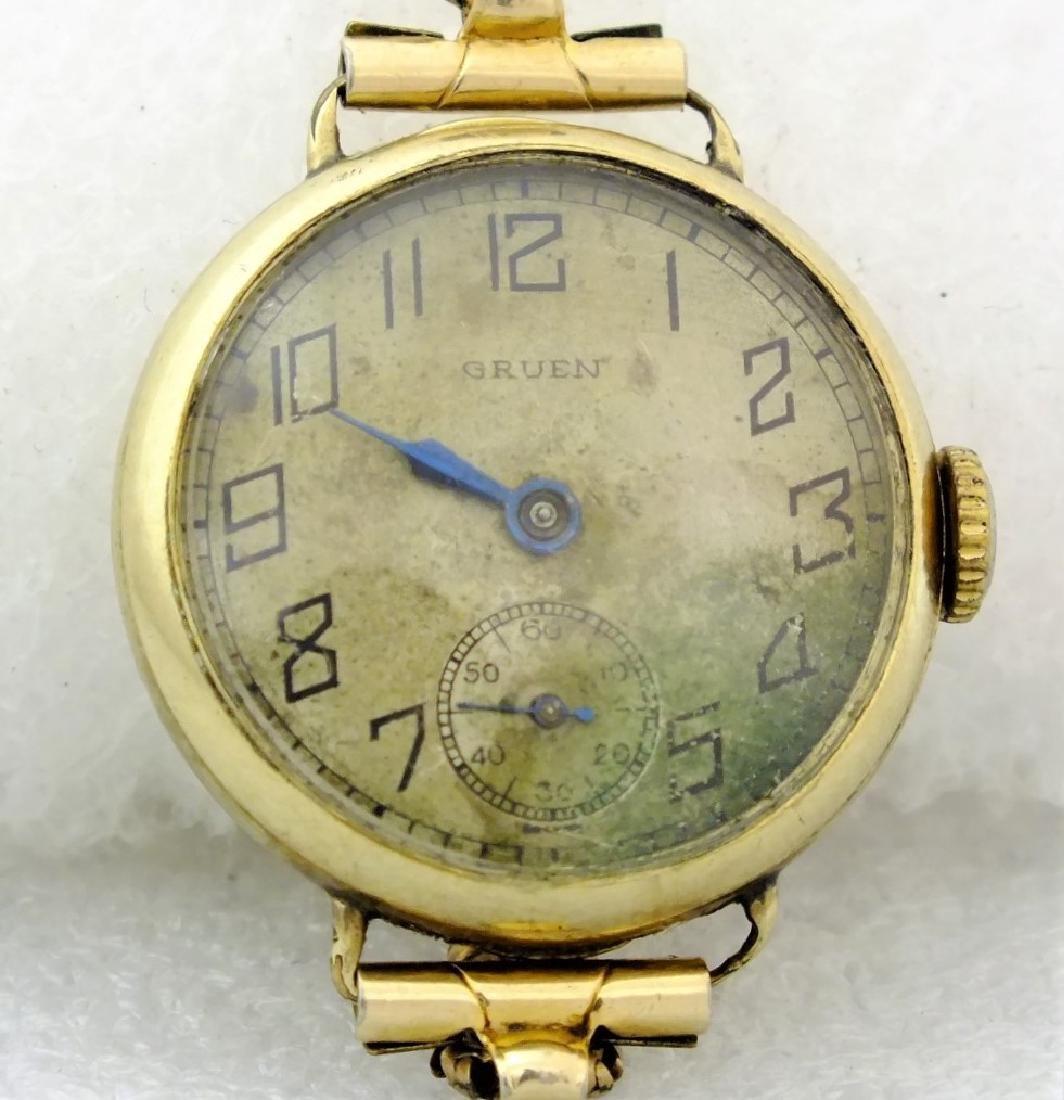 Gruen 18K Gold Plated Veri-Thin 1910s Watch