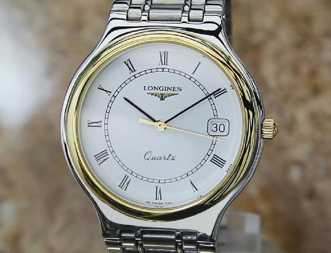 Longines Conquest Mens Swiss Made Stainless Steel