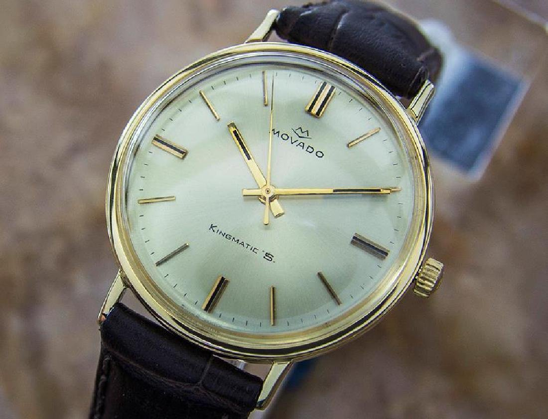 Movado 14K Solid Gold King Matic Swiss Men's Automatic
