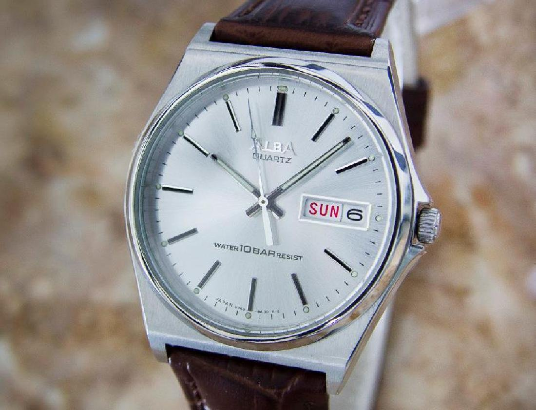Seiko Alba Rare 1980s Mens Stainless Steel Made in