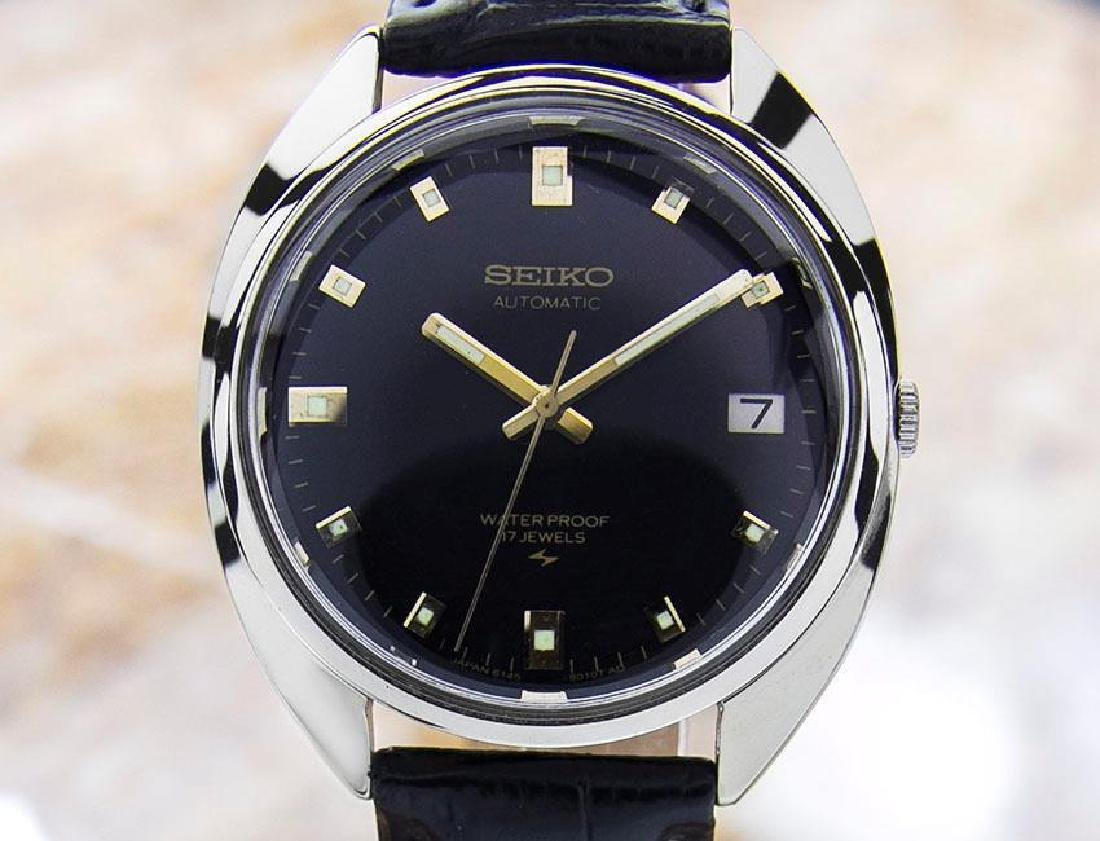 Seiko Vintage Manual 1960s Mens Wind SS Dress Watch