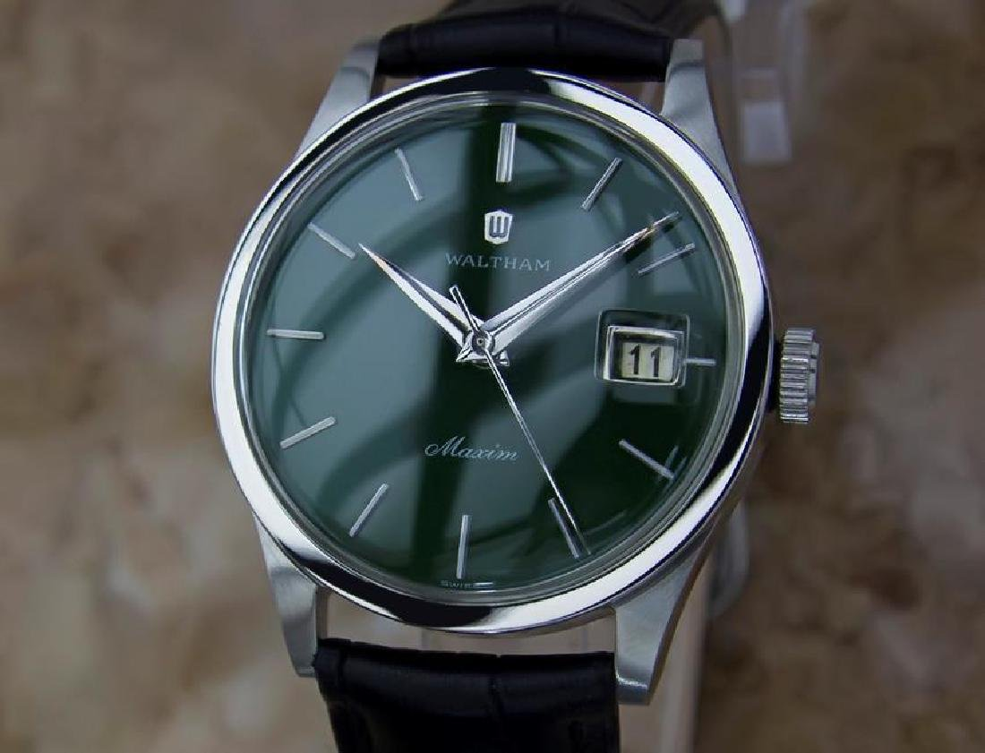 Waltham Maxim Swiss Made 1970s Men's Manual Stainless