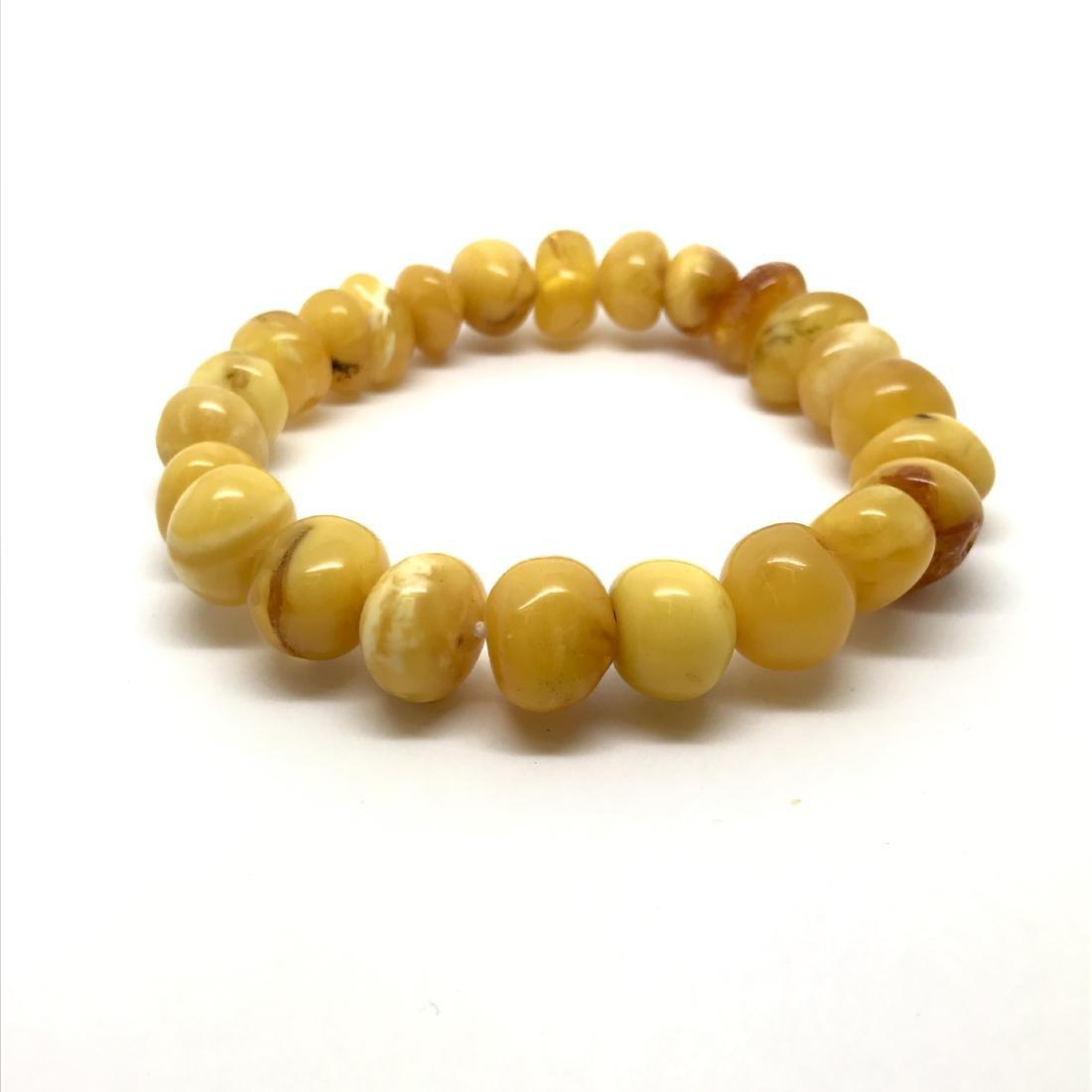 Antique Baltic amber beads bracelet 18.2 gr