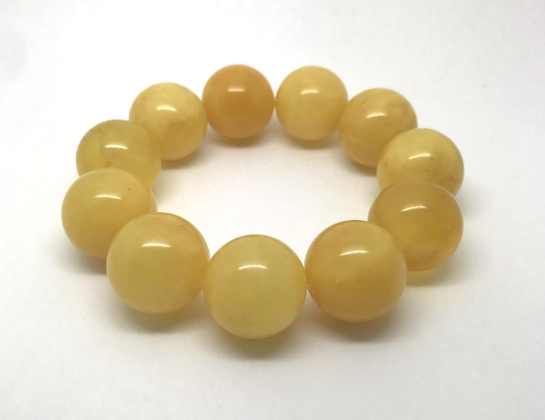 Baltic amber bracelet  beads ø19mm, 43.6 gr