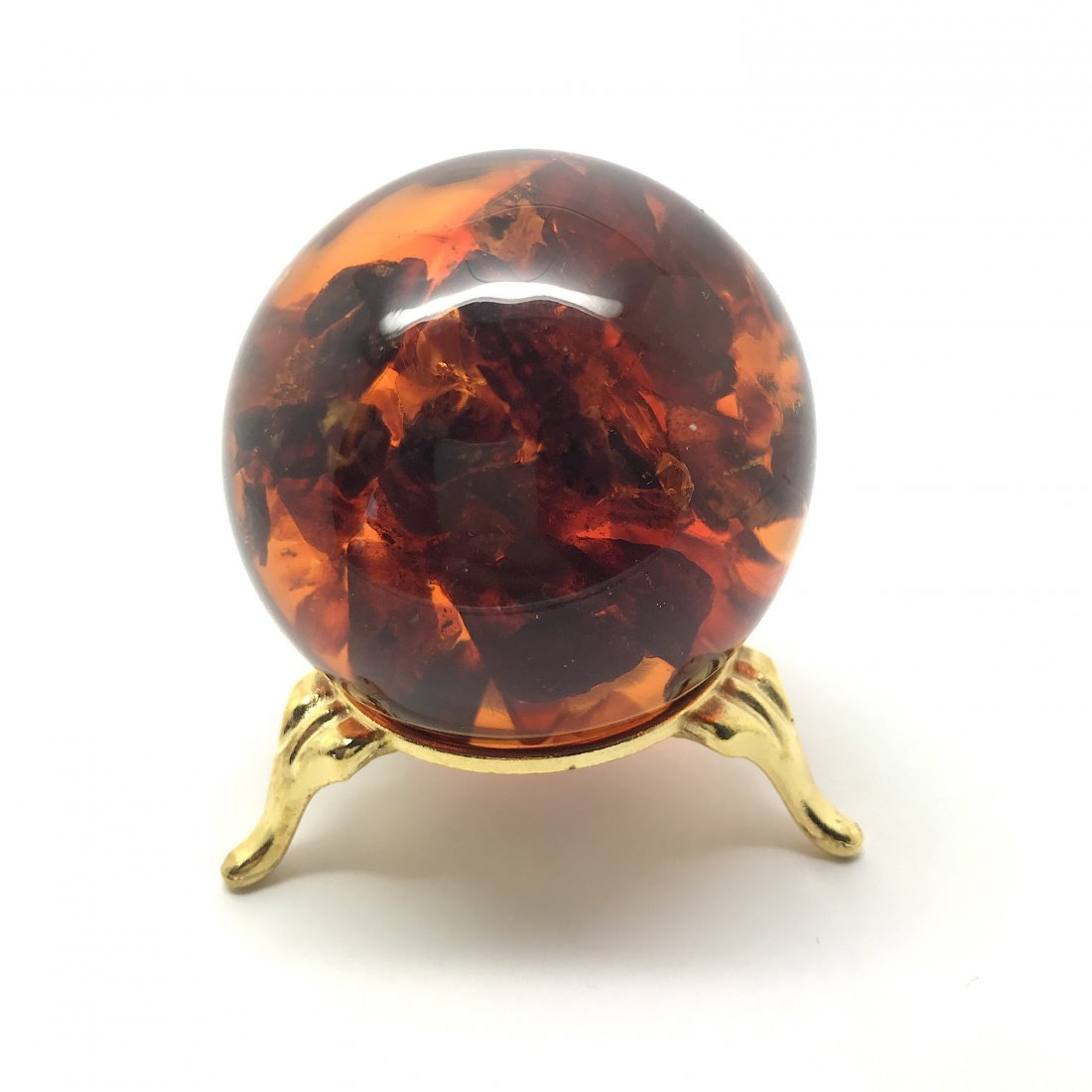 Spectacular Baltic amber ball sphere ø54mm 103 gr