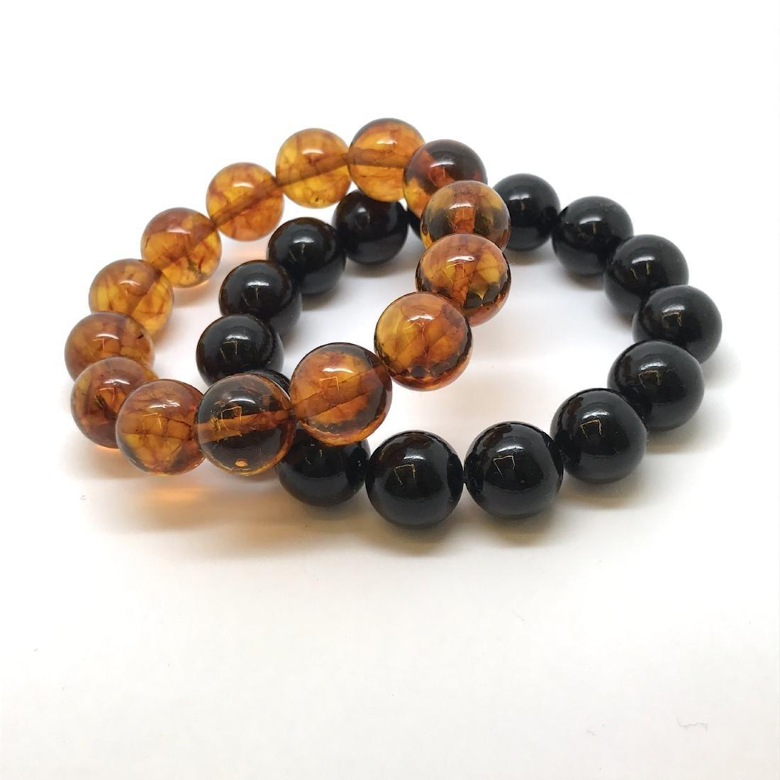 2x Baltic amber beads bracelets 30.4 gr