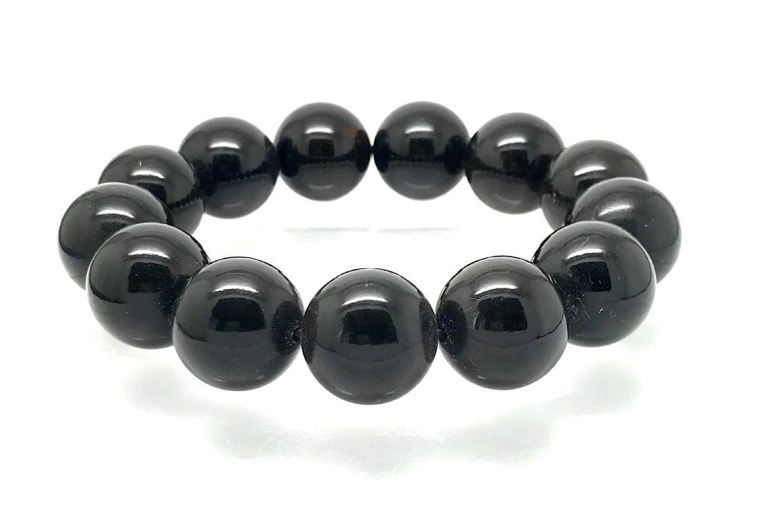 Baltic amber bracelet of large beads, 36 gr