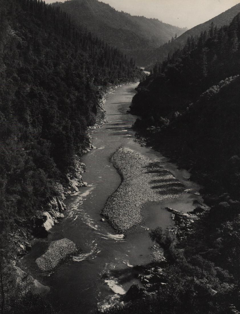 ANSEL ADAMS - Gravel Bars, American River