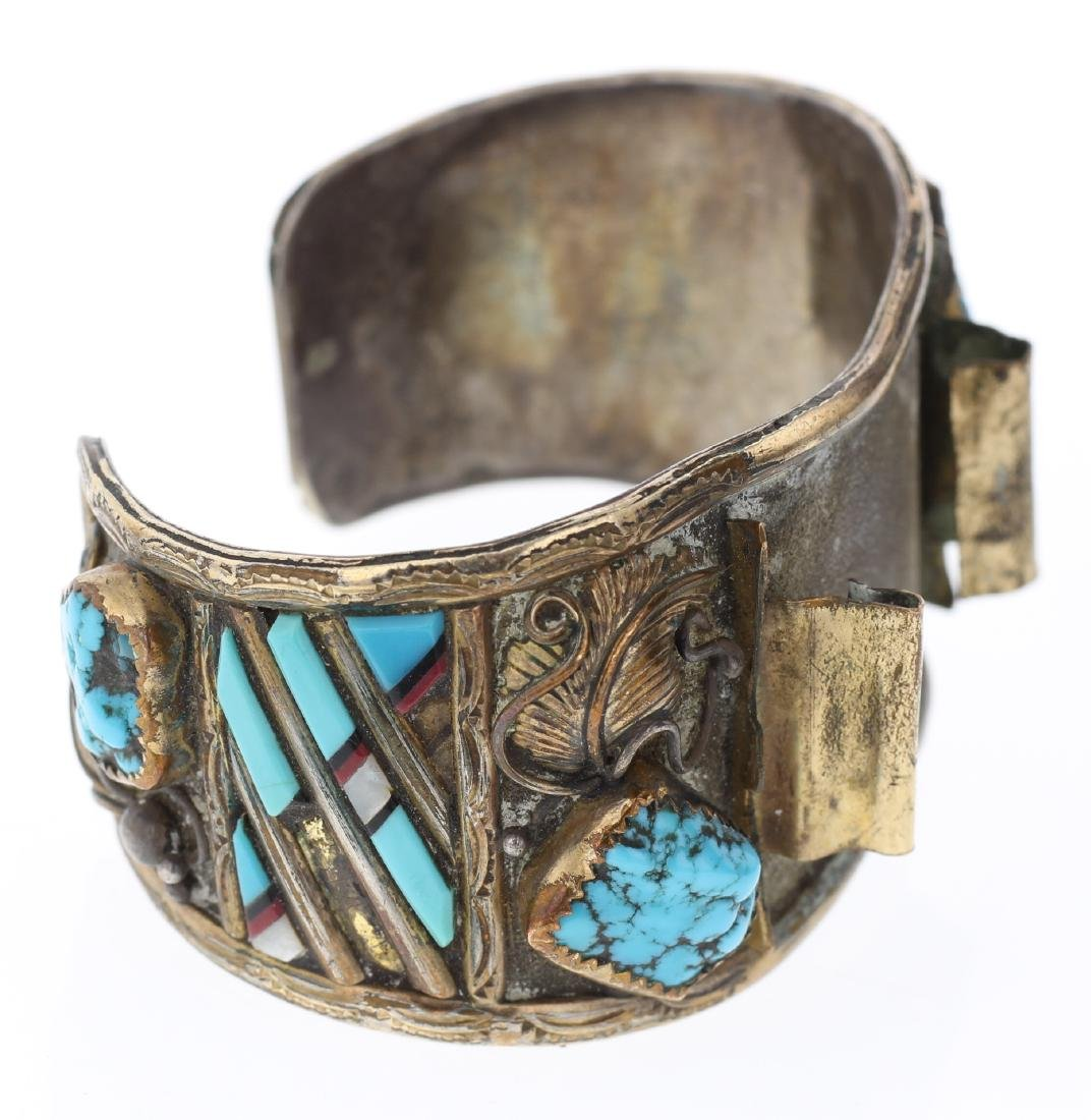 Vintage Silver Turquoise Watch Bracelet