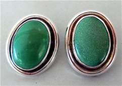 Sterling Silver Earrings by George & Grace Nakai