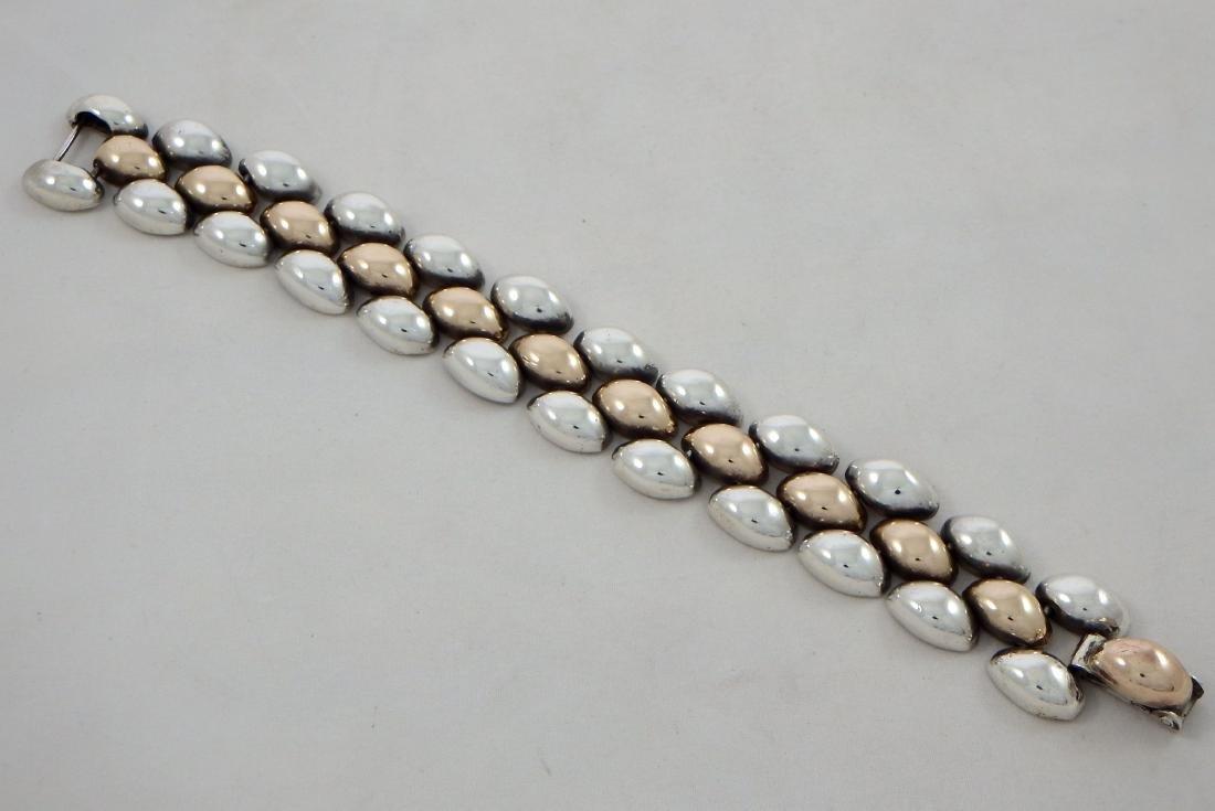 Spratling Mexican Sterling Silver and Copper Bracelet