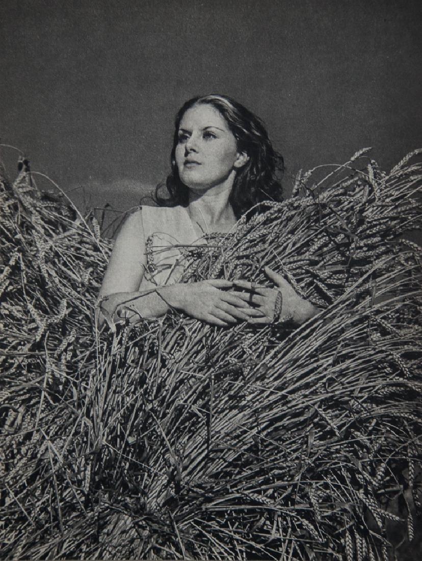 PIERRE ADAM - Woman in Wheat Field