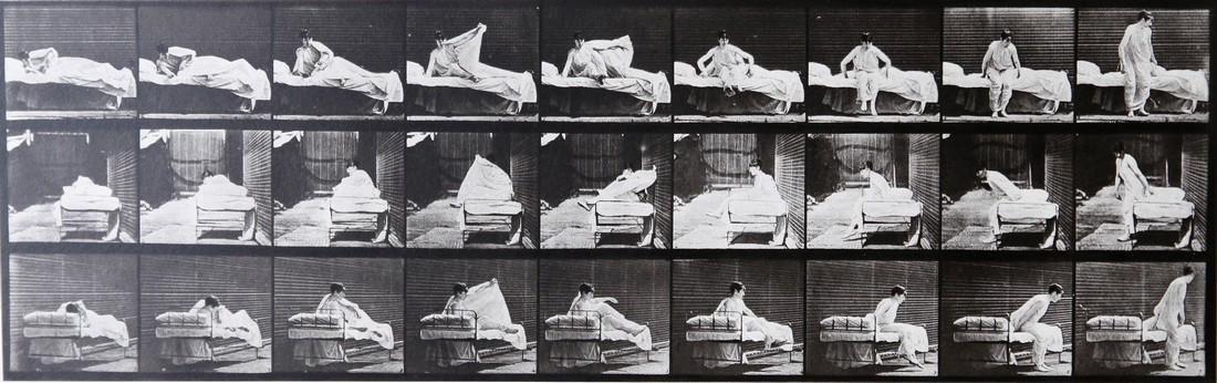 EADWEARD MUYBRIDGE - Woman getting out of bed