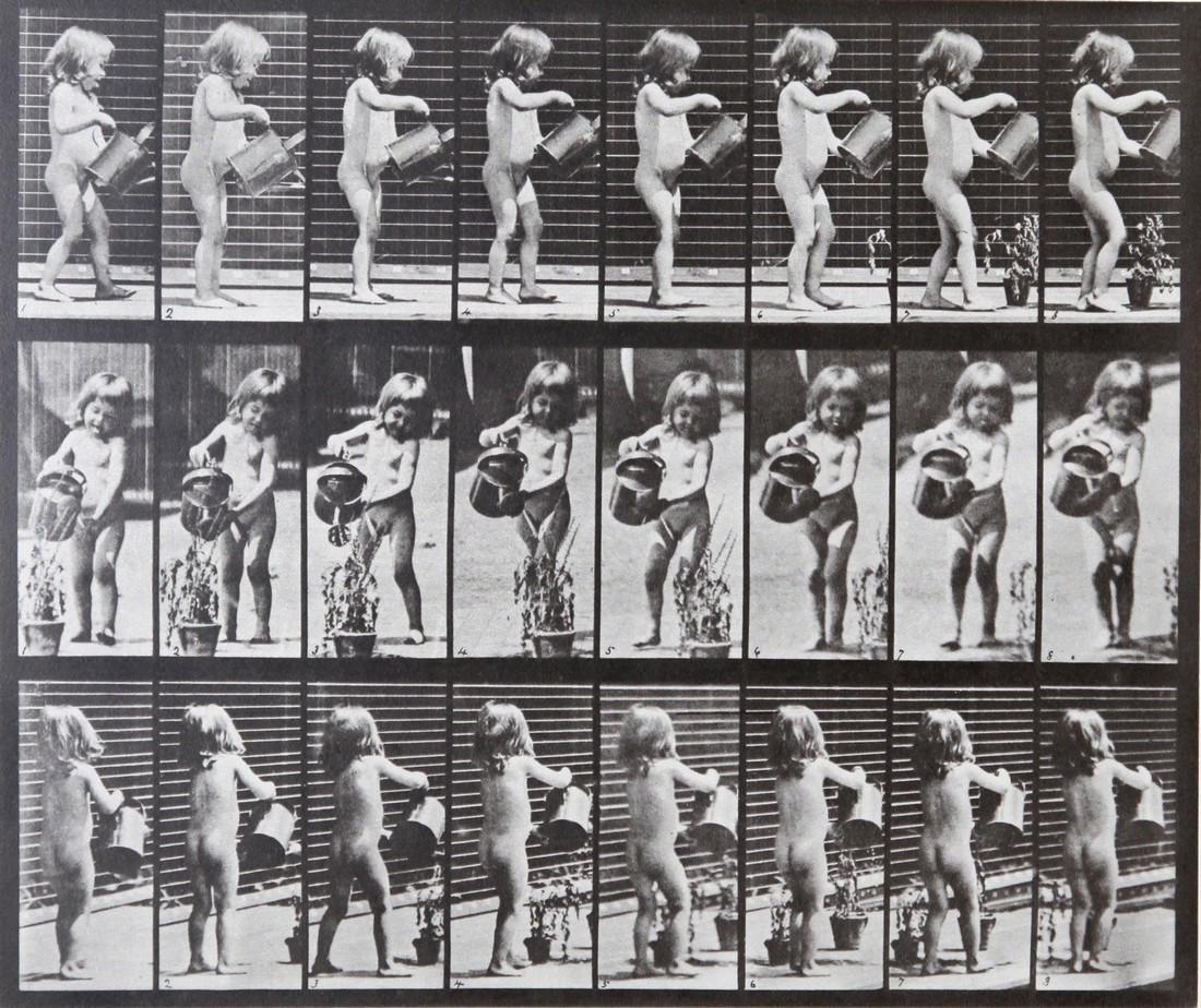 EADWEARD MUYBRIDGE - Girl watering AL478