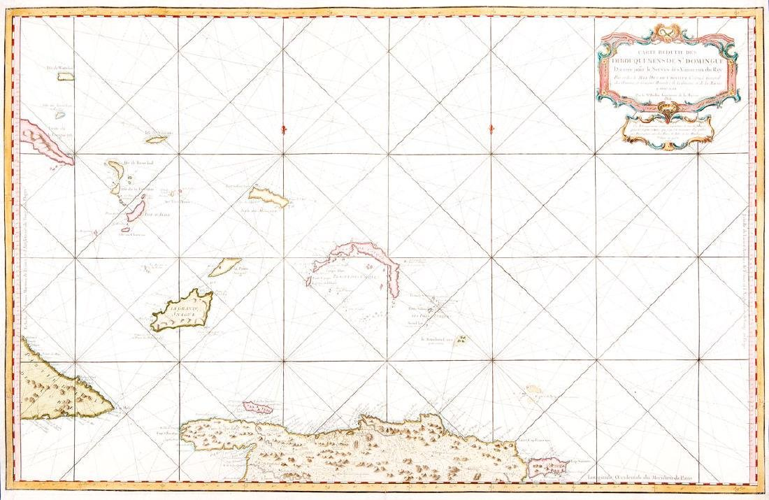 Bellin: Hispaniola/Turks & Caicos/Lower Bahamas, 1765