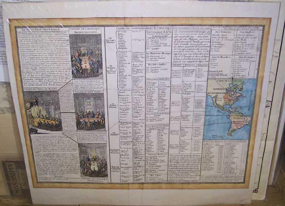 CHATELAIN: Carte Du Gouvernement De L'amerique, 1705