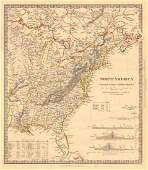 SDUK: Antique Map of NORTH AMERICA EAST, 1846