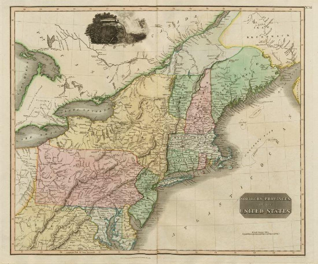 Thomson: Antique Map of Northern provinces of the US