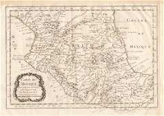 Bellin: Antique Map of Central Mexico, 1754