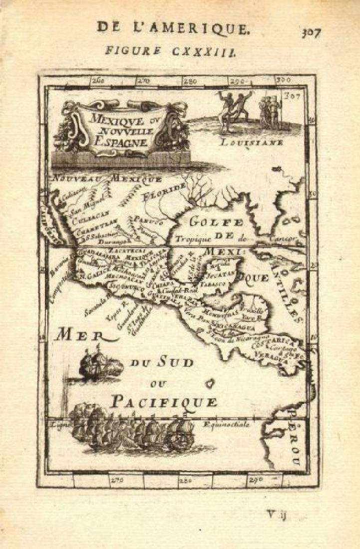 Mallet: Antique Map of Mexico/Central America, 1683