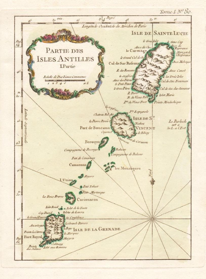 Bellin: Lesser Antilles 1 - St. Lucia to Grenada, 1764
