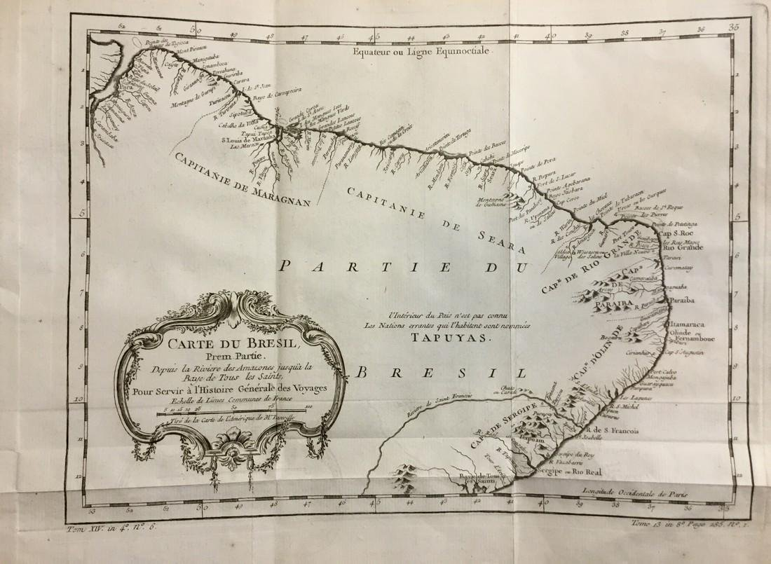 Bellin: Antique Map of Northern Coast of Brazil, 1740