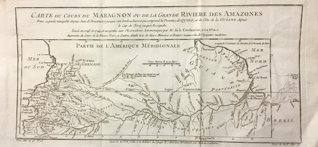 Bellin: Antique Map of Amazon River, 1740