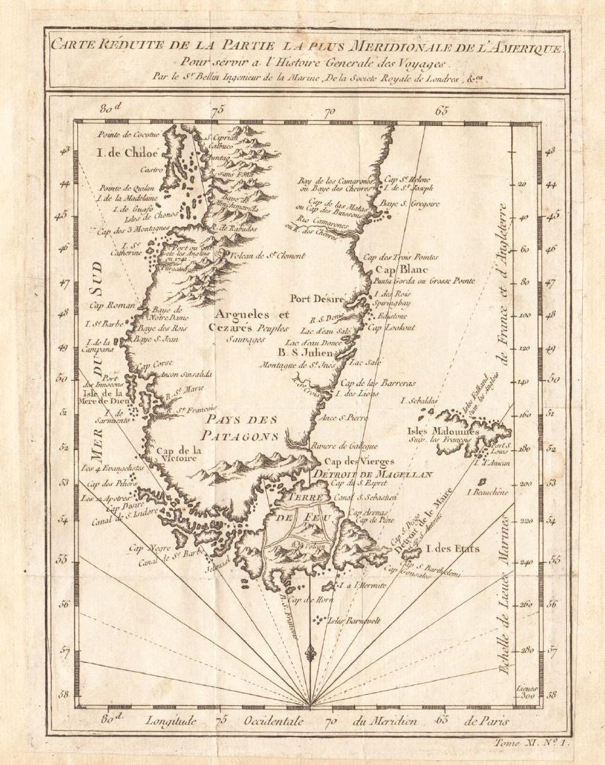 Bellin: Patagonia / Magellanica / Falkland Islands 1753