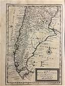 Moll: Antique Map of Patagonia Chile & Argentina